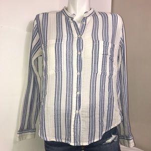 L.OG.G Classic Blue White Striped Button DownShirt